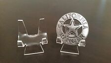 "1 Premium 2-3/8"" Display Stand Easel Police Fire Rescue Railroad Military Badges"