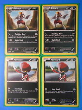 2x Bisharp 76/101, 2x Pawniard 75/101 Pokemon TCG card BW Noble Victories NM