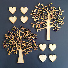 Christmas Wooden MDF Tree Shape Family Tree Wedding Guestbook Crafting Pack Of 2