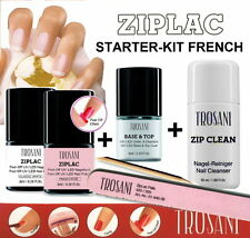 ZIP LAC Starter Set FRENCH MINI Peel Off UV Nail Polish Ziplac/Twincoat/Zipclean