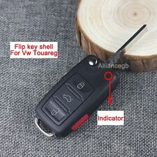 For VW Volkswagen Touareg Remote Key Shell Case and Flip Uncut Blade Replacement