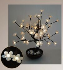 "White Cherry Blossom LED Tree in Pot - Home Decoration 21"" - LB"