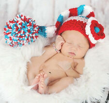2014 New Baby Girls Boy Newborn Knit Crochet Clothes Photo Prop Outfits 0-9M +E