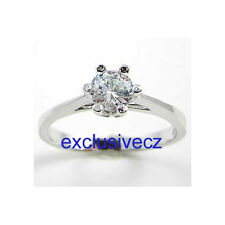 1/2 Carat***Round Cut Solitaire***14K White Gold GP Wedding cz Ring Size 8