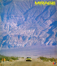 Mitsubishi Colt Mirage 1978-79 Japanese Market JDM Sales Brochure 1200 1400