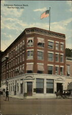 Hot Springs AR National Bank c1910 Postcard