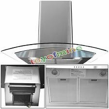 "New Europe Exhaust Stainless Steel Glass 30"" Wall Mount Kitchen Range Hood"
