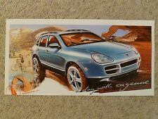 2003 Porsche Cayenne S SUV Showroom Advertising Sales Poster RARE!! Awesome L@@K