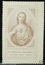 OLD BLESSED SACRED HEART OF MARY HOLY CARD ANDACHTSBILD SANTINI SEE MY SHOP C680