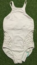 New Seafolly Mesh About High Neck DD Cup Maillot In White - Size AU12 / US8
