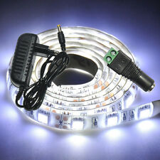 New 1M 5050 SMD Cool White 60LEDs Waterproof Strip Light + 2A Power Adapter+Gift