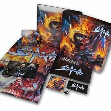 Sodom Decision Day Boxset 2Lp + Cd  Box set w/ poster sticker button patch flag