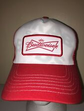 BUDWEISER BEER MESH OLD SCHOOL VINTAGE Rare Trucker Hat Baseball Cap Retro CC