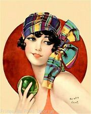 Flapper Swimmer Art Print 8 x 10 - Jazz Age - Art Deco - Beach - Bathing Suit