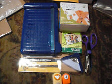 Lot Creative Memories Personal Cutter Corner Punch Xyron Create Sticker Fiskars