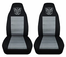 nice set of transformer design front car seat covers black/gray