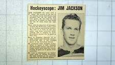 1960 Jim Jackson Streatham Pirates Hockey Player , Timmins Ontario