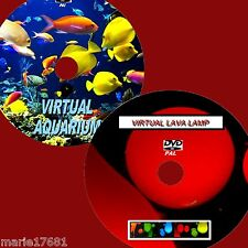 SOOTHING VIRTUAL AQUARIUM & LAVA LAMP GREAT TWIN DVD VIDEO SET VIEW FORTV/PC NEW