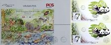 Autographed complete chop 7 Wonders panda Malaysia First Day Cover FDC 2016 Pos