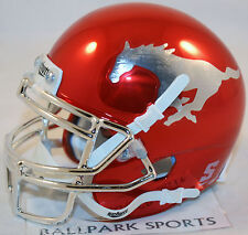 SOUTHERN METHODIST SMU MUSTANGS (RED CHROME) Schutt XP Mini Helmet
