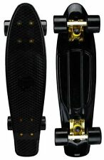 "Mayhem Cruiser Board 22""  Skateboard Black Gold NEW"