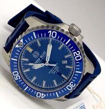 New Deep Blue Hydro 91 Blue Ceramic Bezel Automatic T100 Tritium Mens Watch