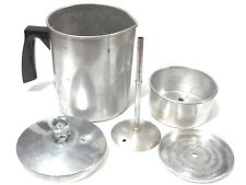Vintage Aluminum Stove Top Percolator Coffee Pot Camping,Hiking 7-Cup Complete!