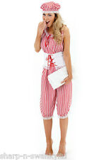 Ladies Sexy Red 1920s Bathing Beach Honey Swim Suit Fancy Dress Costume Outfit
