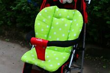 Stroller Seat Pushchair Mat Cushion Green Cotton Infant Baby