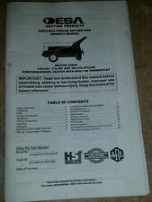DESA PORTABLE FORCED AIR HEATERS OWNER'S MANUAL ENGLISH / ESPANOL INFORMACION