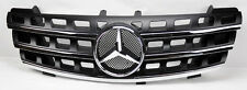 Mercedes ML Class W164 06-08 V2 Front Hood Sport Black Chrome Grill Grille