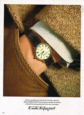 PUBLICITE ADVERTISING 114  1979  EMILE PEQUIGNET  montre hommeà quartz