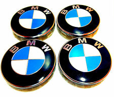 BMW Wheel Centre Caps 4 x 68 mm Badges Fits  E34 E36 E39 E46 E60 F10 F11 F70