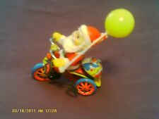 VINTAGE TOY JAPANESE TIN WIND-UP SANTA CLAUS RIDING  CYCLE - BELL Works