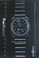 PUBLICITE MONTRE BELL & ROSS TIME INSTRUMENTS WATCH DE 2011 FRENCH AD PUB