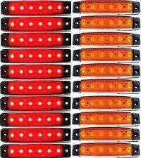 20 Stück 6 LED Leuchte Lampe LKW Begrenzungsleuchte Umrißleuchte 12V Orange Rot