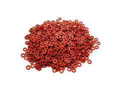 """1,000 Pieces .188 x .375 x .062 3/16"""" SEALING RUBBER FLAT WASHER - RED -FREE S&H"""