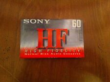 SONY HF High Fidelity Normal Bias Audio Cassette 60 Minutes Brand New Sealed CS
