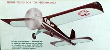 """Vintage MINNIE MAMBO 36"""" 1/2A RC Model Airplane PLAN + Parts Patterns"""