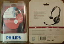 PHILIPS MONO PC HEADSET - CUFFIE PC VOIP SKYPE MESSENGER LIVE YAHOO ICQ ETC..