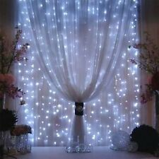 Led String Lights Fairy White Home Curtain Patio Set Twinkle Icicle Wedding New