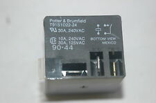 1x Potter & Brumfield T91S1D22-24 SPST 24VDC 30A PC Mount Terminals Relay Switch