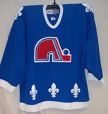 Quebec Nordiques 1992 Vintage BLUE CCM 550 Jersey Large
