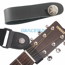 Guitar Genuine Leather Strap Hook Button for Acoustic/Folk/Classical Guitar