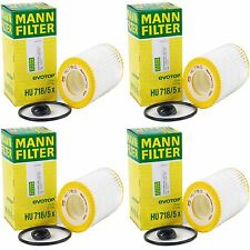 4 Pack MERCEDES-BENZ OE#0001803109 Fleece Engine Oil Filter MANN-FILTER HU718/5x