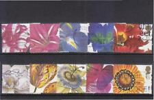 GREAT BRITAIN UK 1997 GREETINGS 19TH CENTURY FLOWER PAINTINGS COMP. SET OF 10