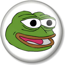 """PEPE THE FROG HAPPY FACE 25mm 1"""" Pin Button Badge Internet Meme 4chan Humour Alt"""