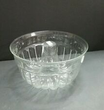 Princess House Heritage Etched Jello Mold ~ Tempered Crystal