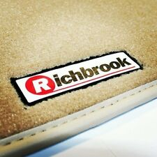 Richbrook Beige Car Mats with Leather Trim for Vauxhall Calibra / Cavalier 85-95