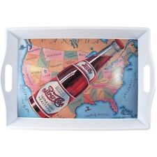 Pepsi Cola Rectangle Serving Tray with Handles, Map of USA